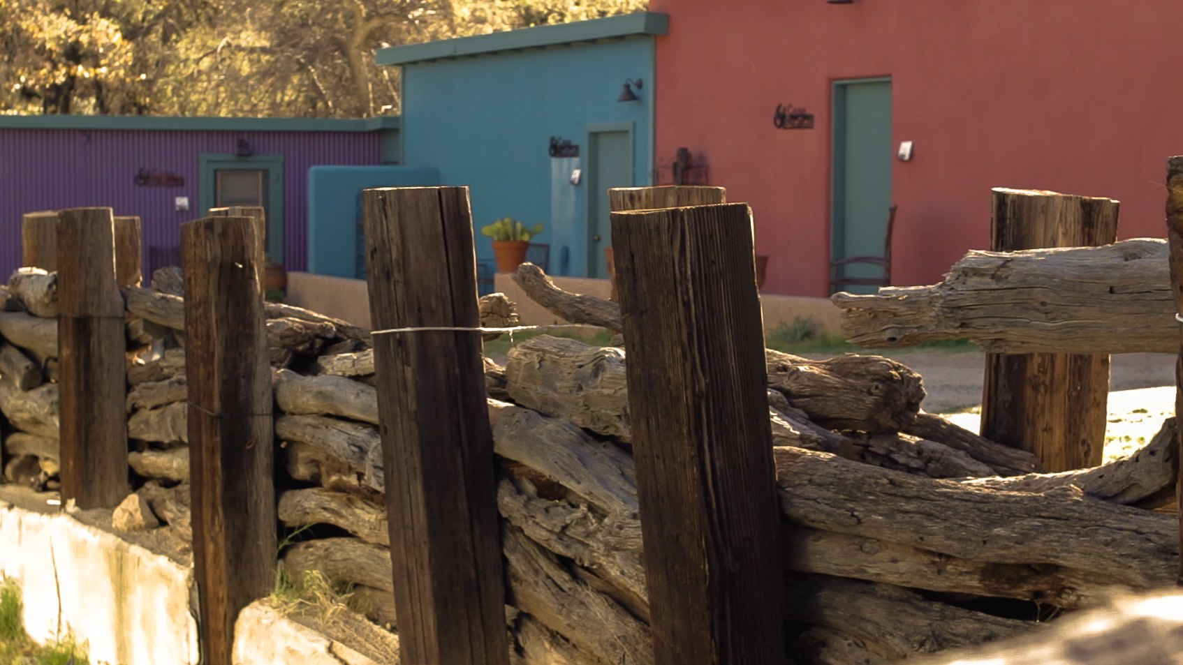 Wood Fence and Casitas at COD Ranch